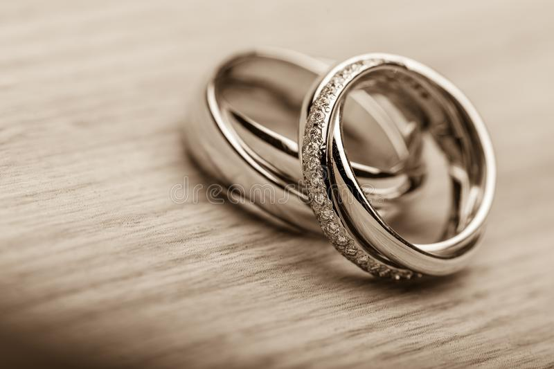Ring. Bands proposing closeup matrimony ceremony two stock photos