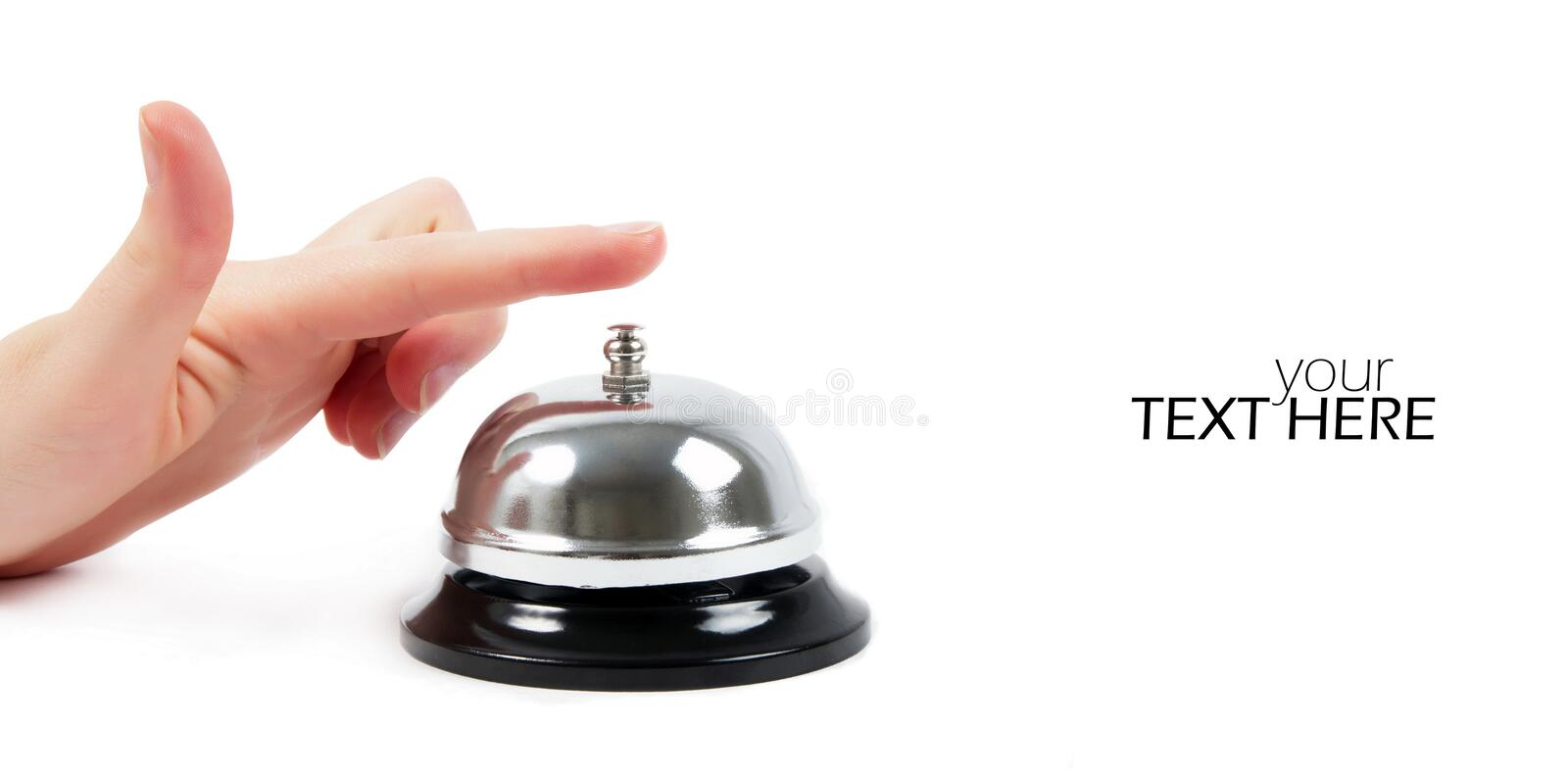 Ring bell with the space royalty free stock photos