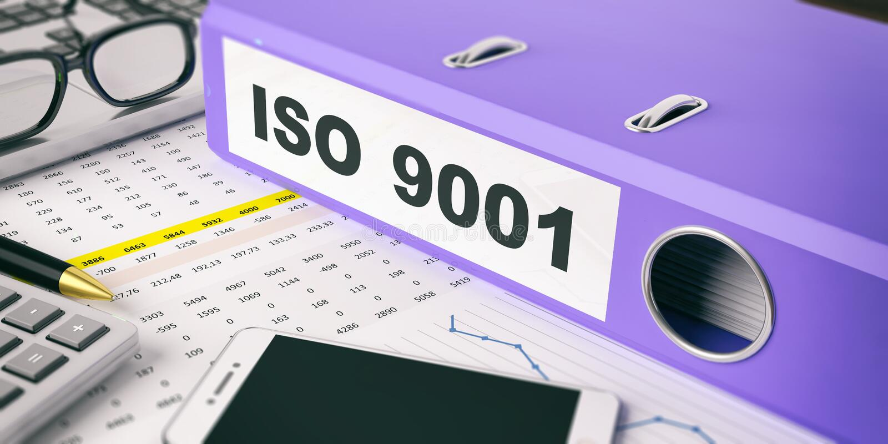 Ring Binder con ISO 9001 de la inscripción ilustración 3D libre illustration