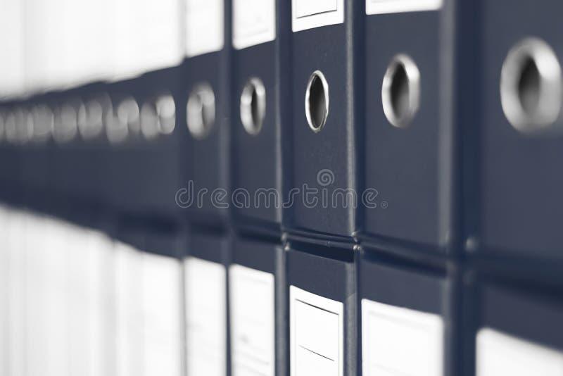 Ring Binders, het bureauplank van het Dossierarchief stock fotografie