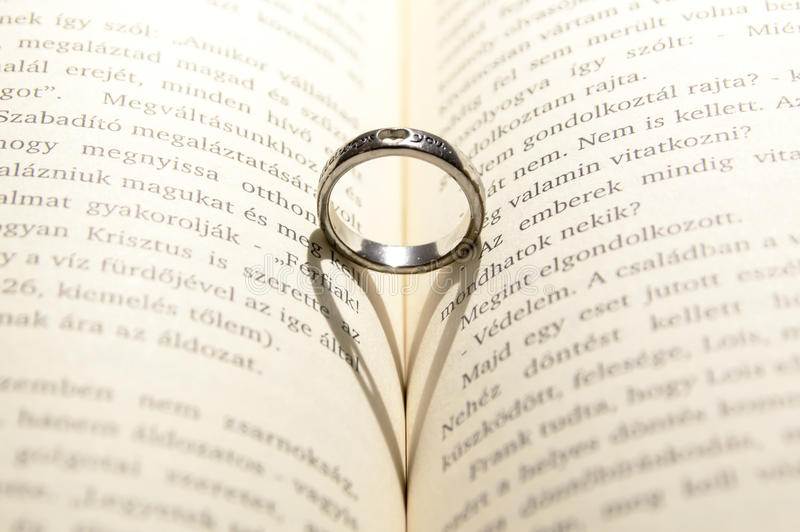 Ring on Book stock photo Image of beautiful ring happy 64833736