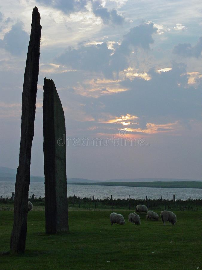 The Ring of Brodgar. Neolithic stone circle in the Orkney Islands stock photos