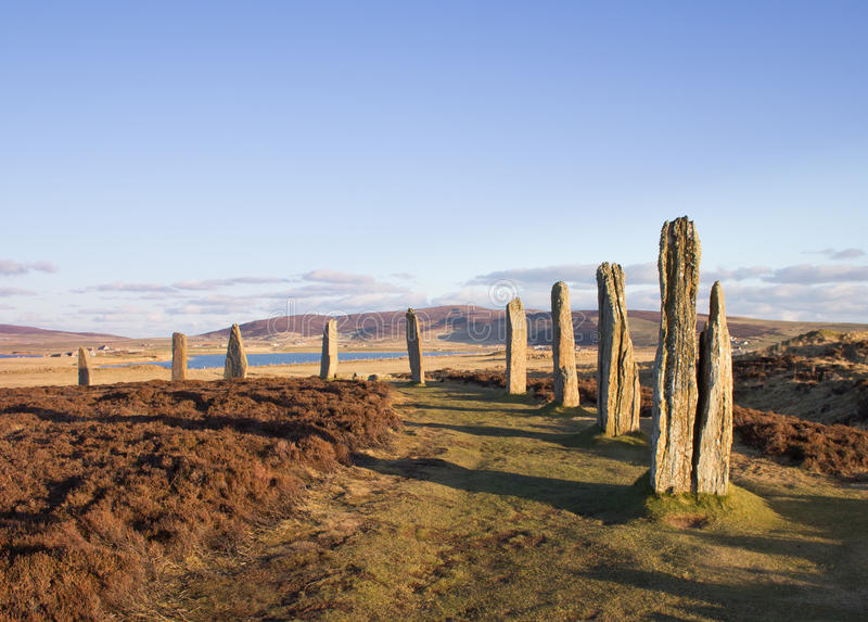 Brodgar in late afternoon royalty free stock image