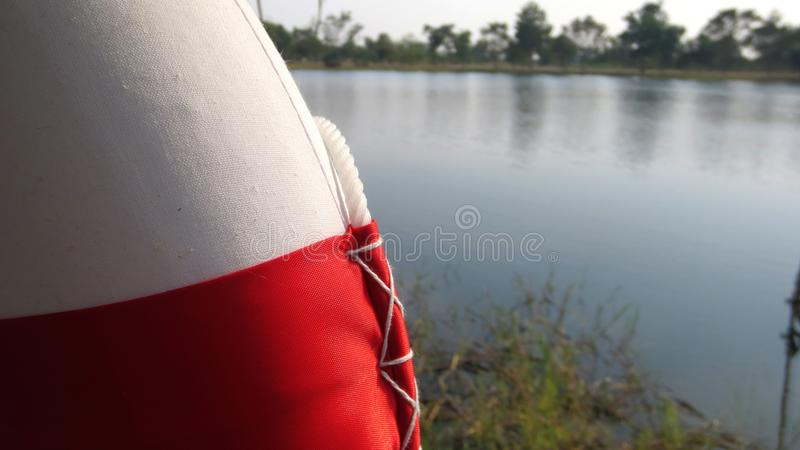 Ring buoy in the park royalty free stock image