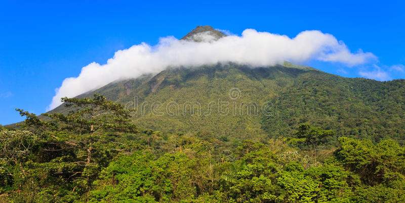 Ring Of Clouds Over Arenal Stock Image