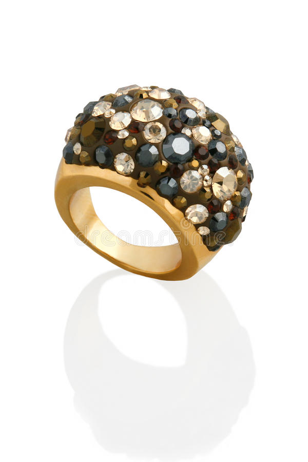 Ring with crystals royalty free stock photography