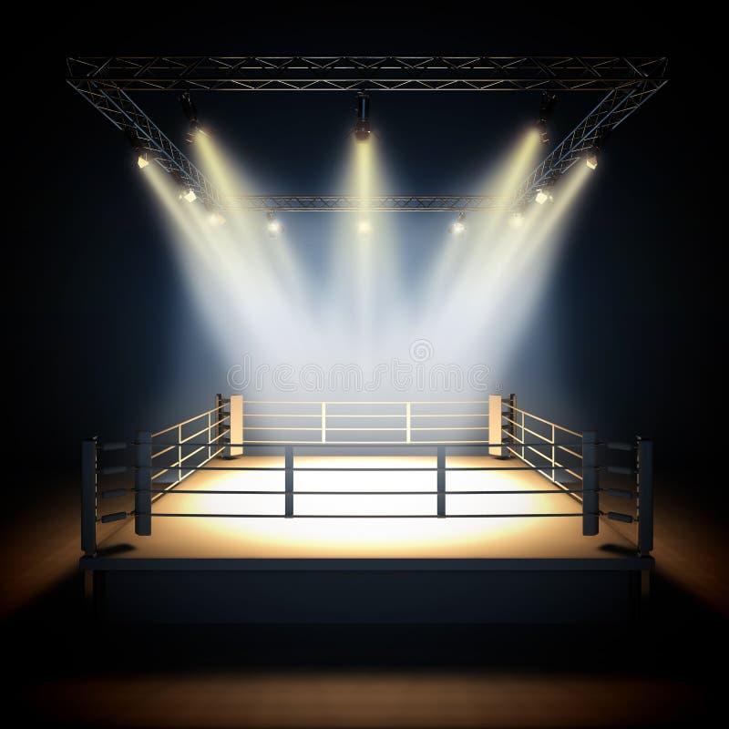 Ring de boxeo profesional vacío libre illustration