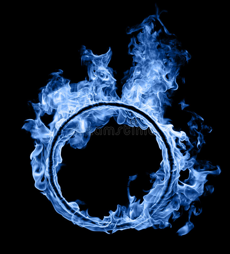 Ring des blauen Feuers lizenzfreies stockbild