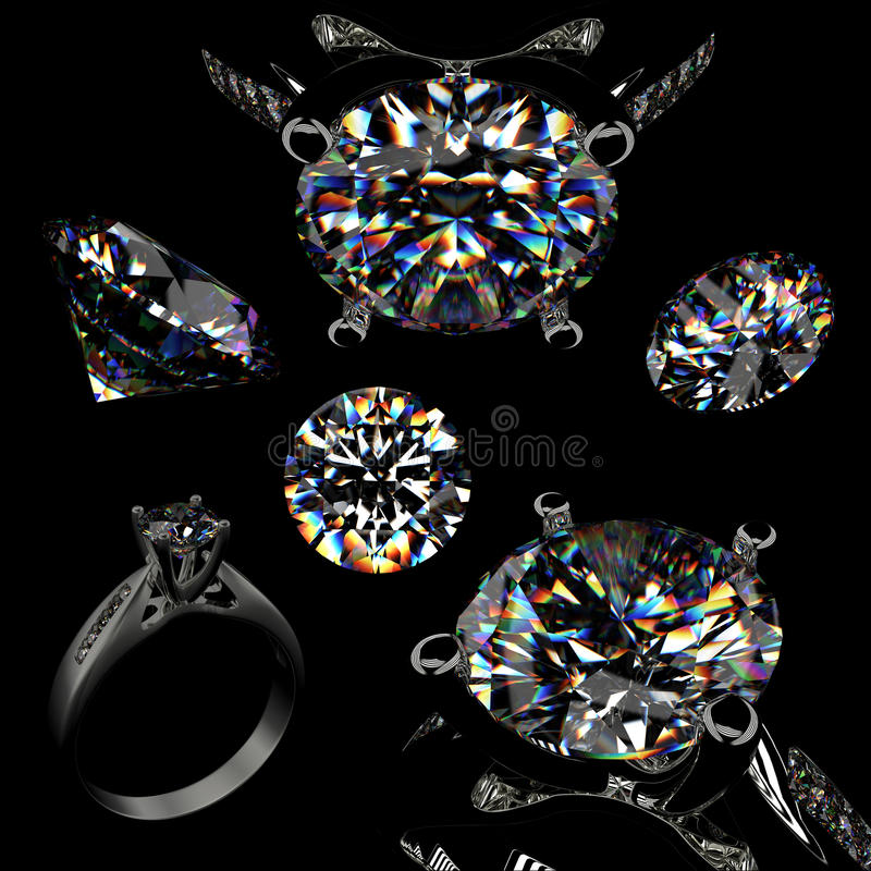Download Ring with diamond stock illustration. Image of jewel - 17381773