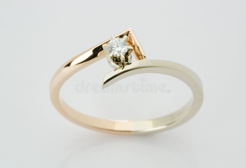 Ring with the diamond stock photography