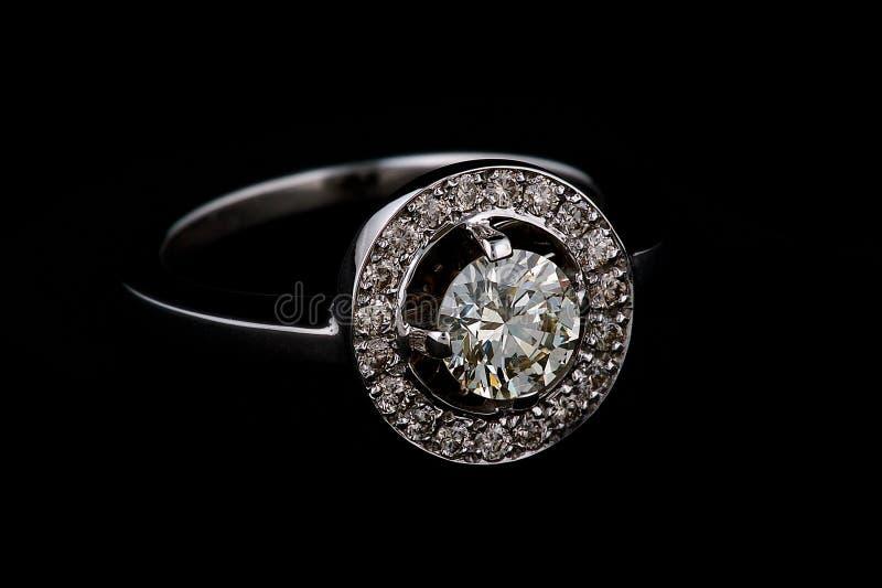 Ring with diamonds stock image