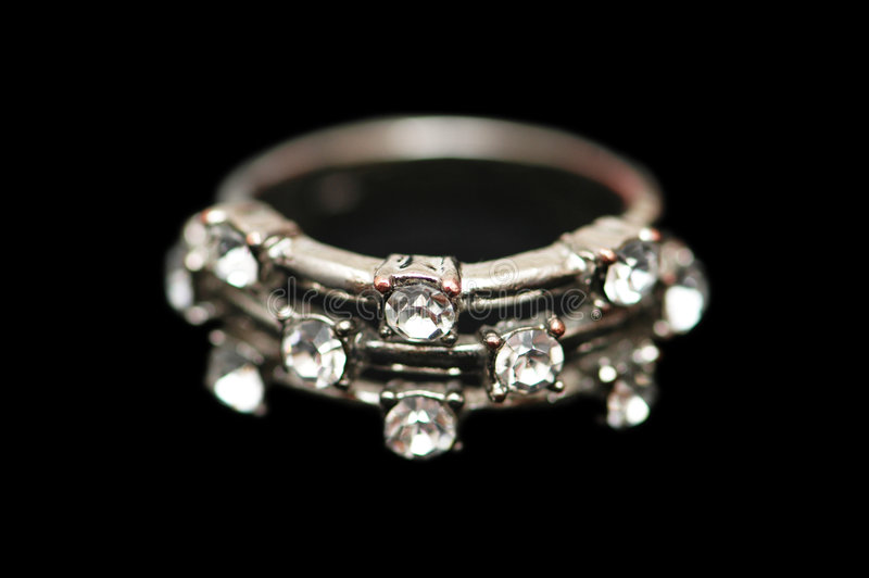 Ring with diamonds isolated