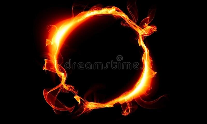 Ring die uit een brand bestaan Het magische ding fantasie royalty-vrije illustratie