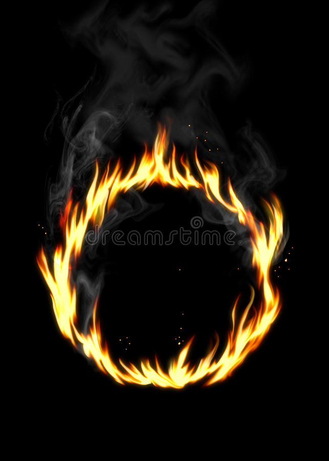 Ring of Fire vector illustration