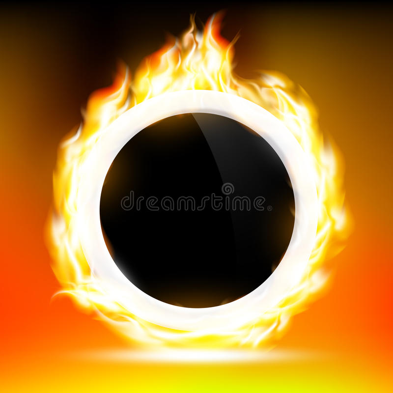 Ring of Fire. Background of the ring in the fire. Vector image vector illustration