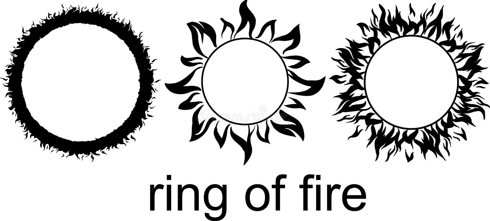 Ring of fire royalty free stock photography