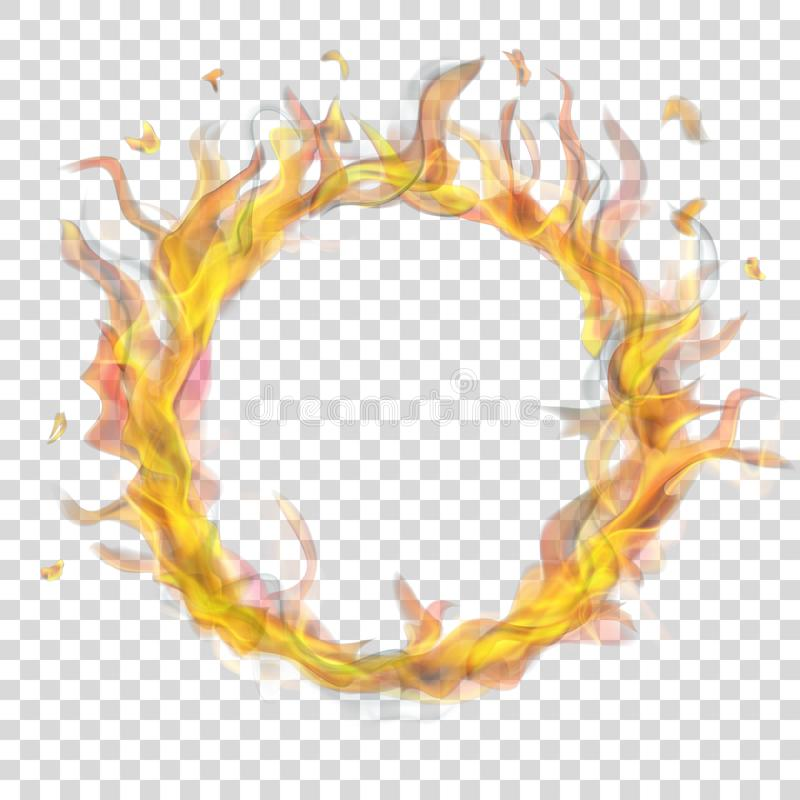 Ring of fire flame with smoke royalty free illustration