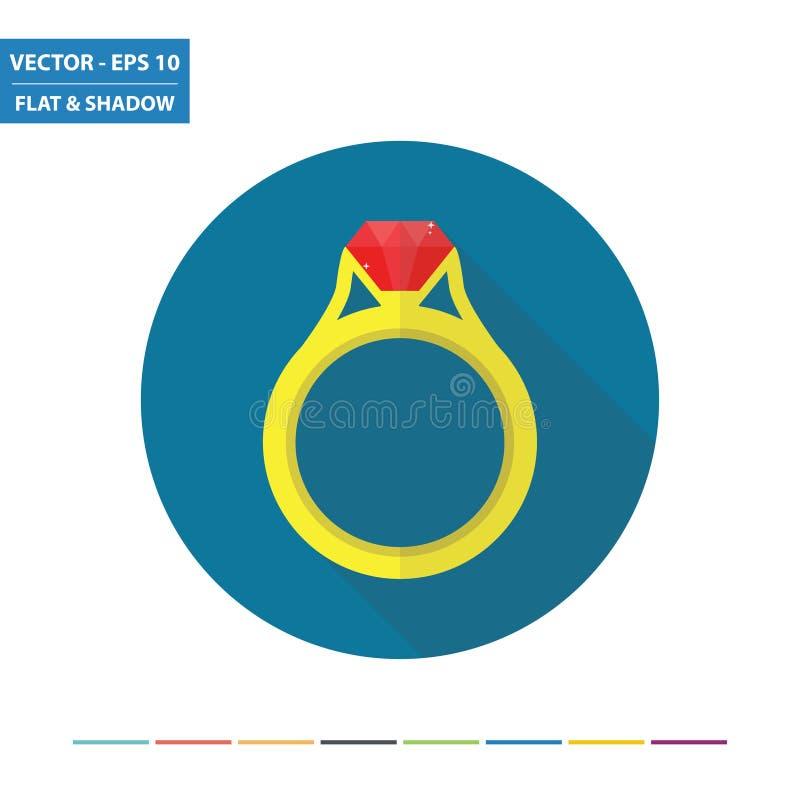 Ring Flat Icon royalty-vrije illustratie