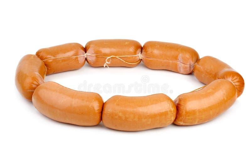 Ring gebildet von den Würsten lizenzfreie stockbilder