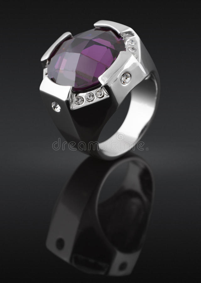 Ring with gem stock photo