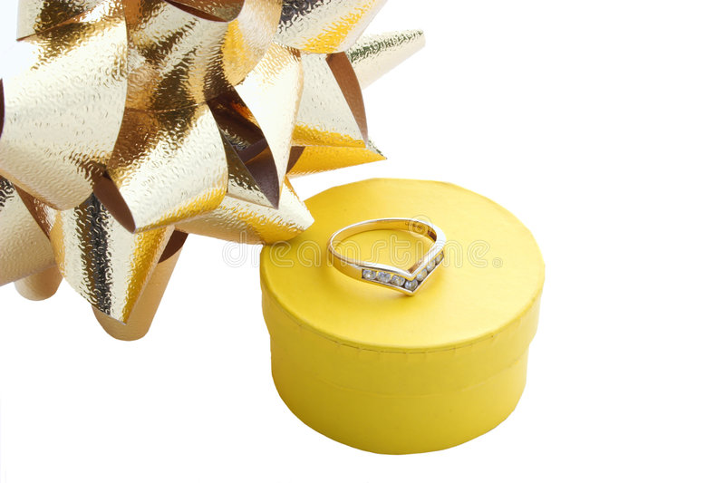 Download Ring gift box and bows stock image. Image of giftwrap - 1355467