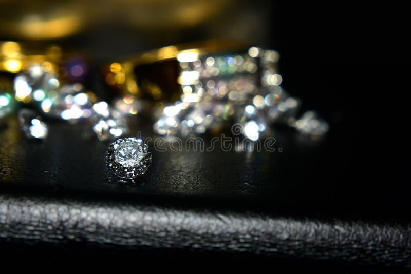 Ring Gold Jewelry en Robijn stock foto's