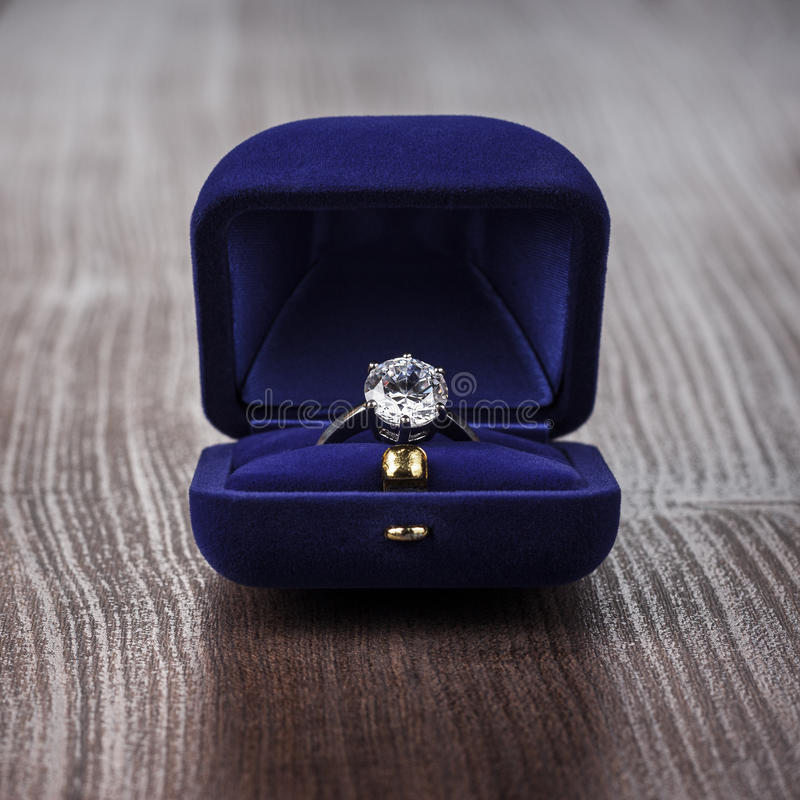 Free Ring In The Box On The Table Stock Images - 37429554