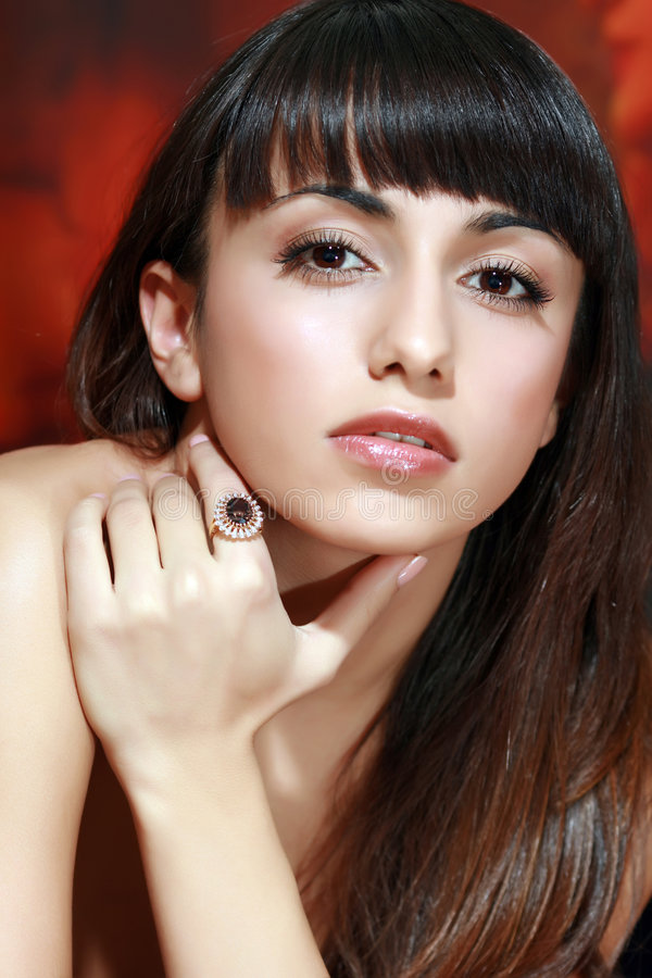 Download Ring with a jewel stock photo. Image of beautiful, face - 8309226