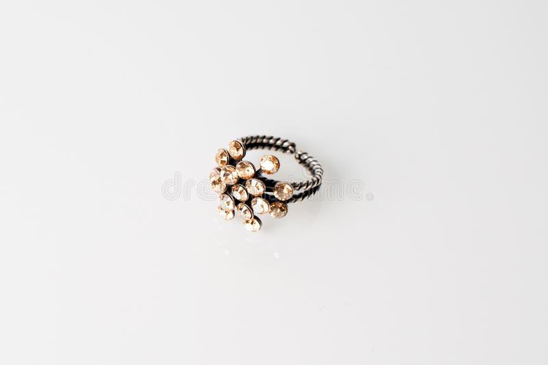 Ring in light gray background royalty free stock photos