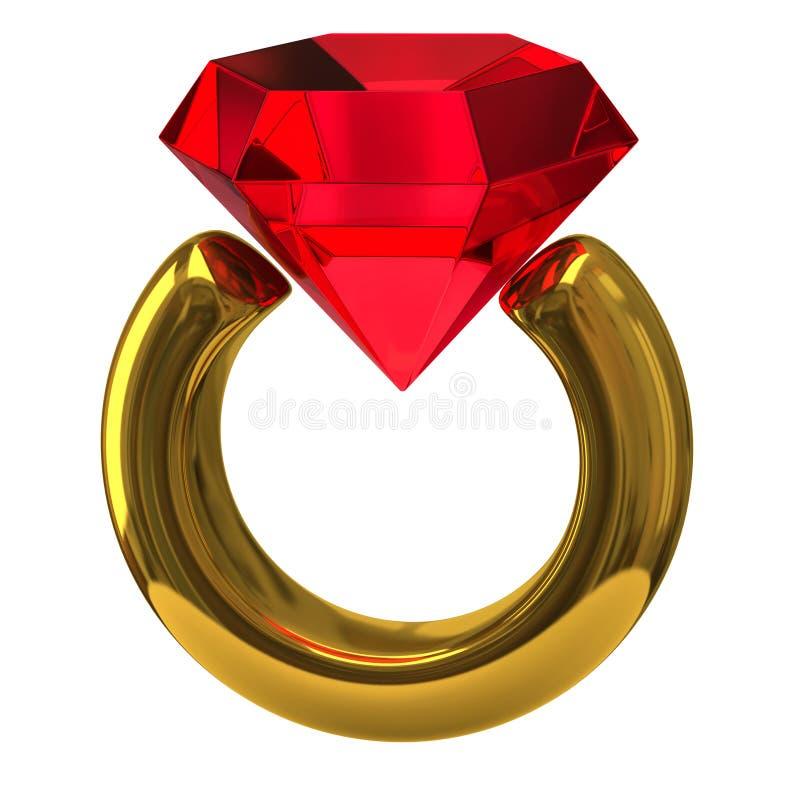 Ring met briljant vector illustratie