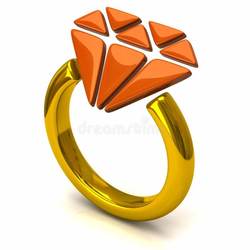 Ring met diamant royalty-vrije illustratie