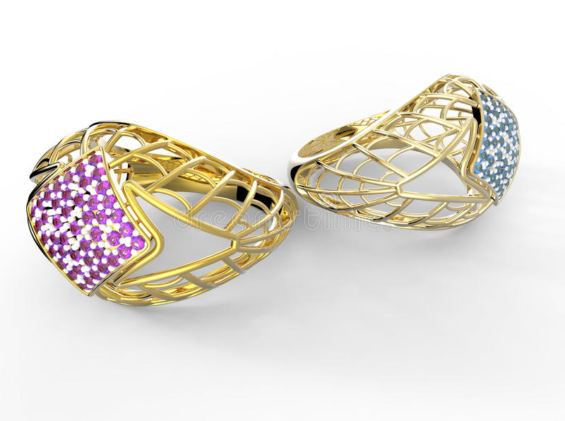 Ring met diamant royalty-vrije stock foto's