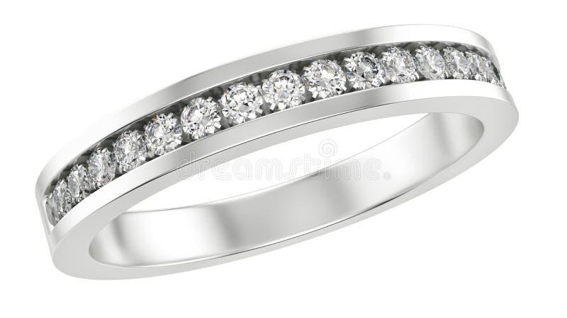 Ring met diamanten stock illustratie