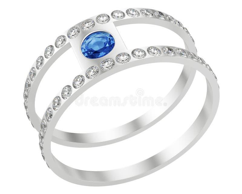 Ring met diamanten royalty-vrije illustratie