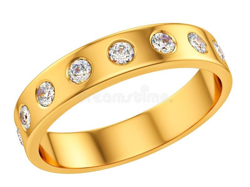 Ring met diamanten vector illustratie