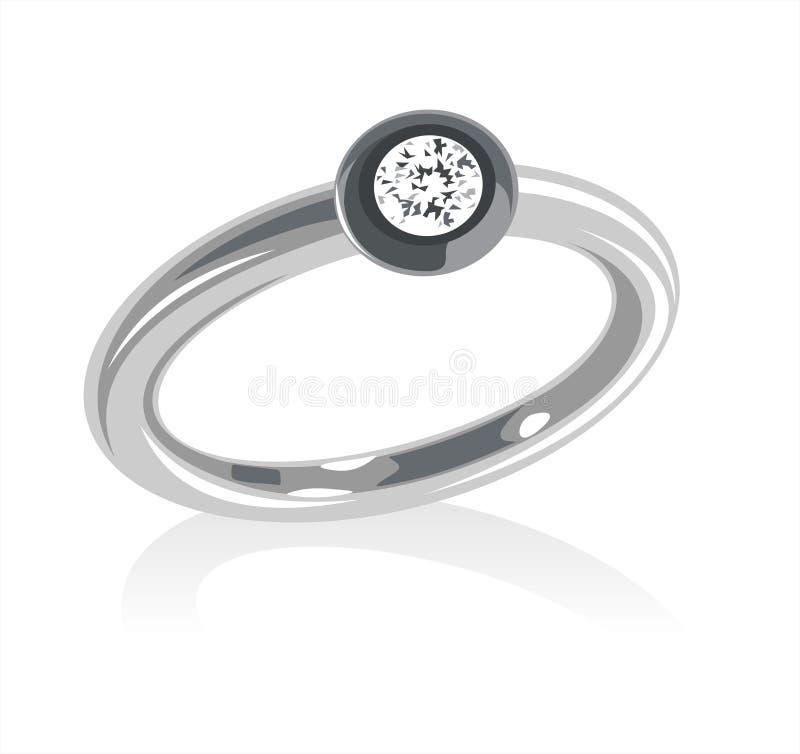 Ring met een juweel royalty-vrije illustratie