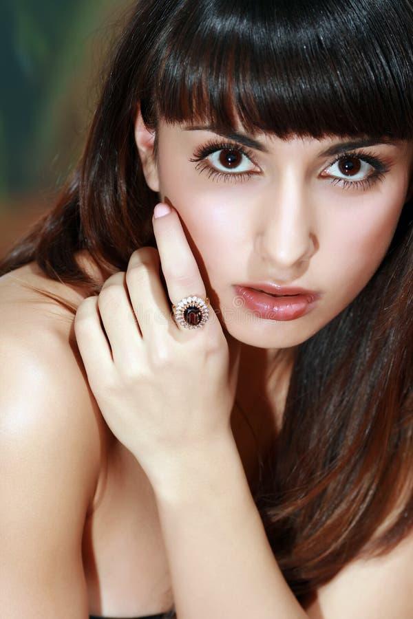Ring met een juweel stock afbeelding