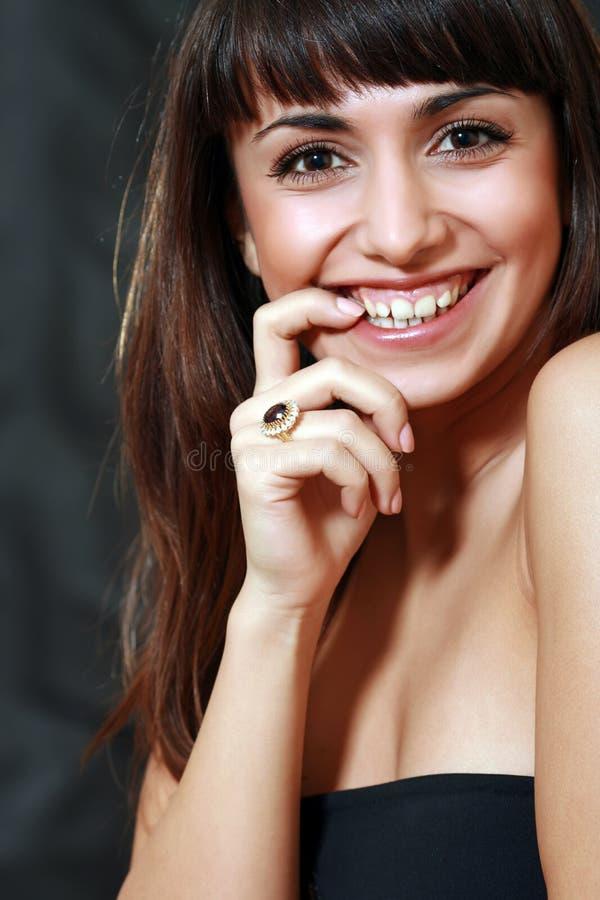 Ring met een juweel stock fotografie