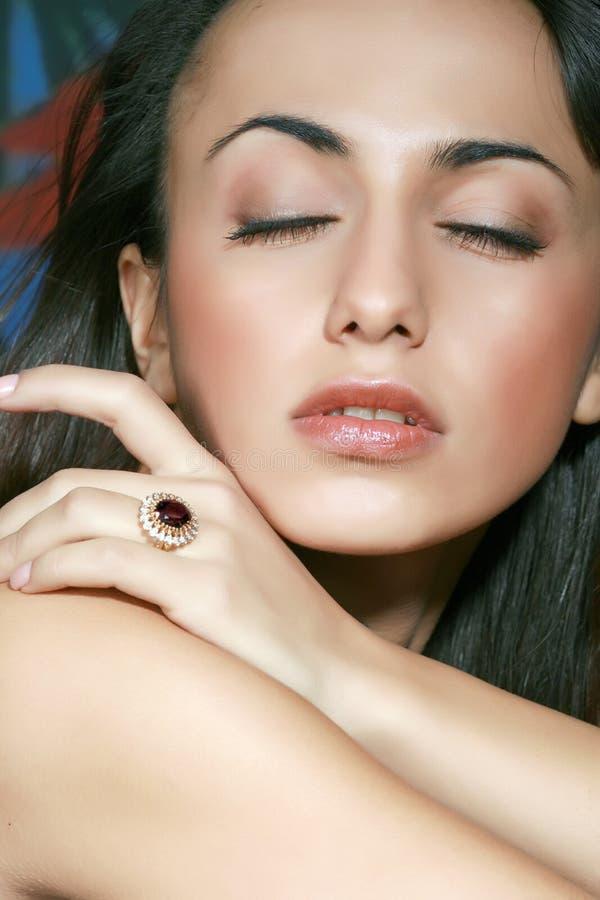 Ring met een juweel royalty-vrije stock afbeelding