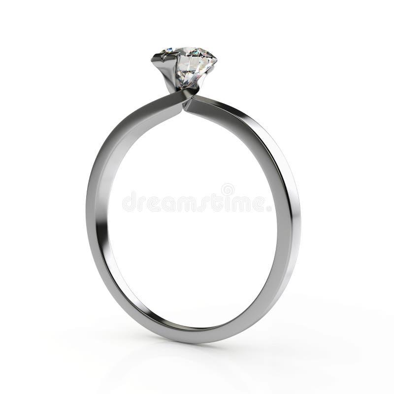Ring mit Diamanten lizenzfreie abbildung