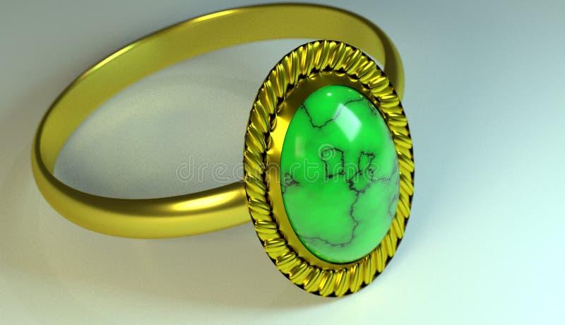 Ring, pictogram, embleem, 3D illustratie, beste 3D illustratie stock illustratie