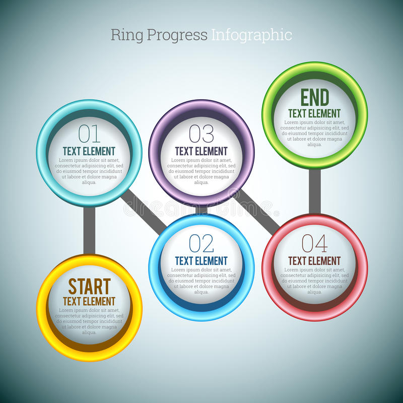Ring Progress Infographic stock illustratie