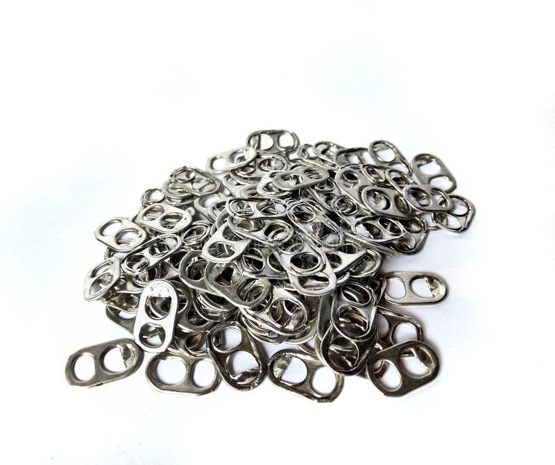 Ring Pull Aluminum Of Cans royalty free stock photography