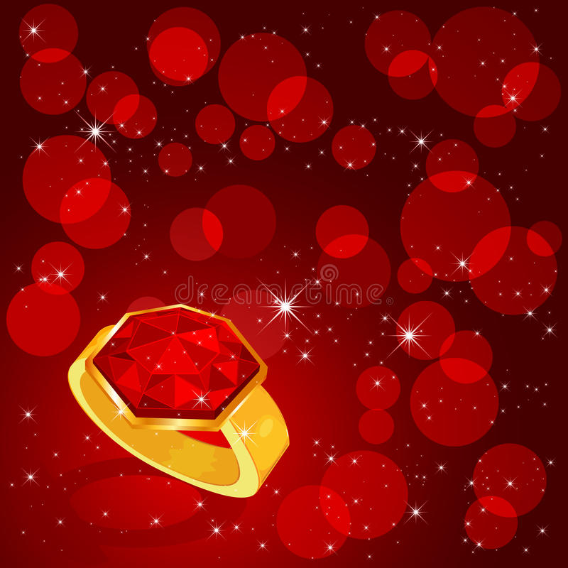 Download Ring on red background stock vector. Image of light, darkness - 22553033