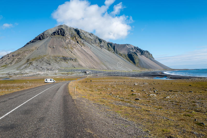 Ring road and southeastern Iceland. Ring road and landscape in southeastern Iceland stock photography