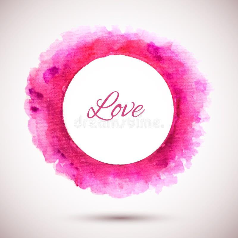 Ring-roze-liefde stock illustratie