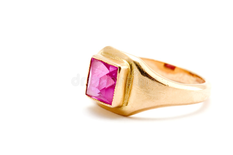 Ring with ruby stock images