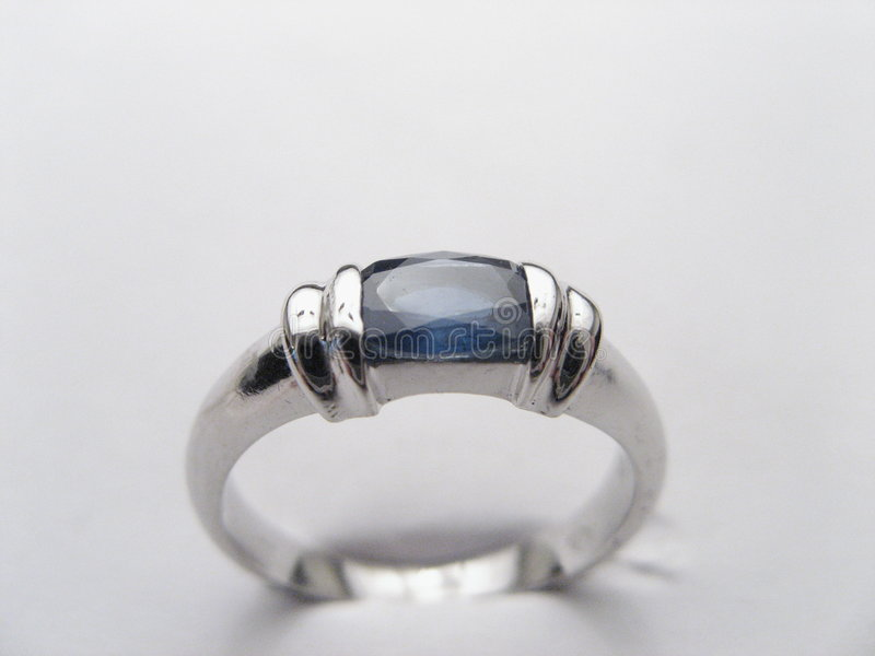 Ring with Sapphire royalty free stock images
