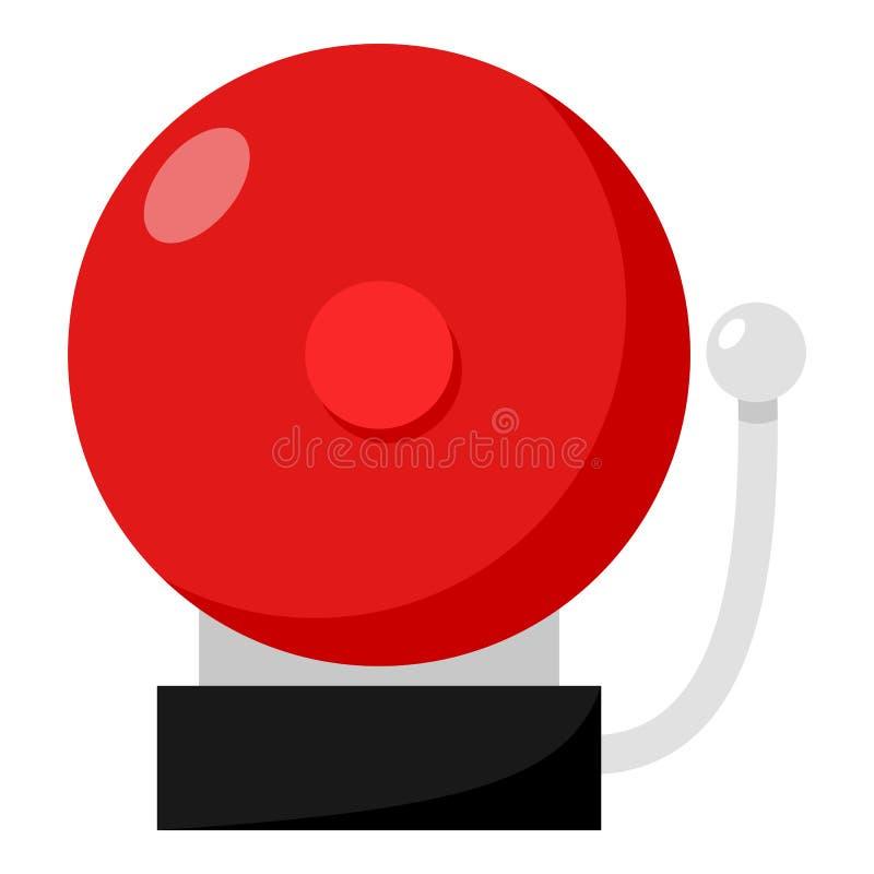 Ring School Alarm Flat Icon su bianco royalty illustrazione gratis