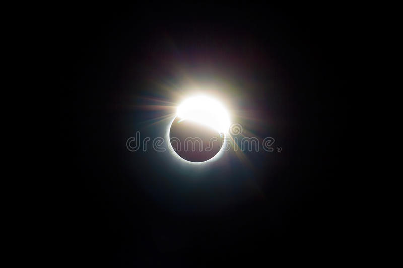 The Ring of 2017 Solar Eclipse USA United states. The ring around the 2017 Solar Eclipse viewed from Central Oregon United States stock photos